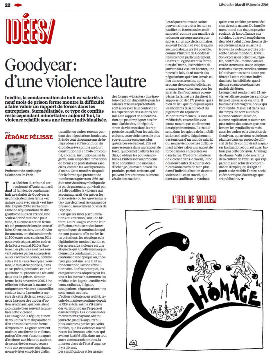 20160119-Libé-France-Goodyear : d'une violence l'autre