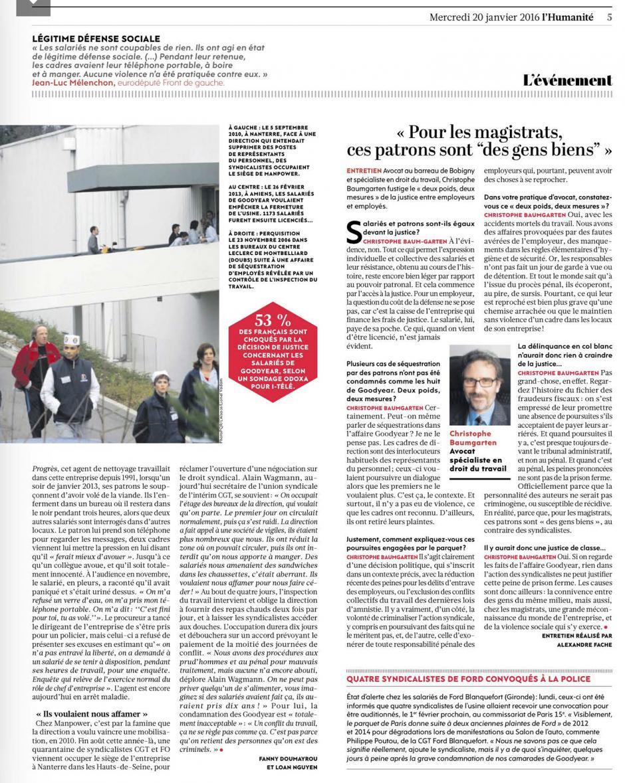 20160120-L'Huma-France-Les patrons séquestreurs, eux, n'écopent pas de prison ferme