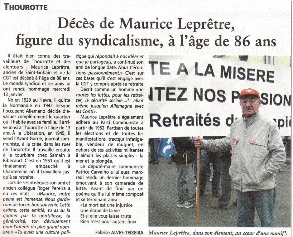 20160120-OH-Thourotte-Décès de Maurice Leprêtre, figure du syndicalisme, à l'âge de 86 ans