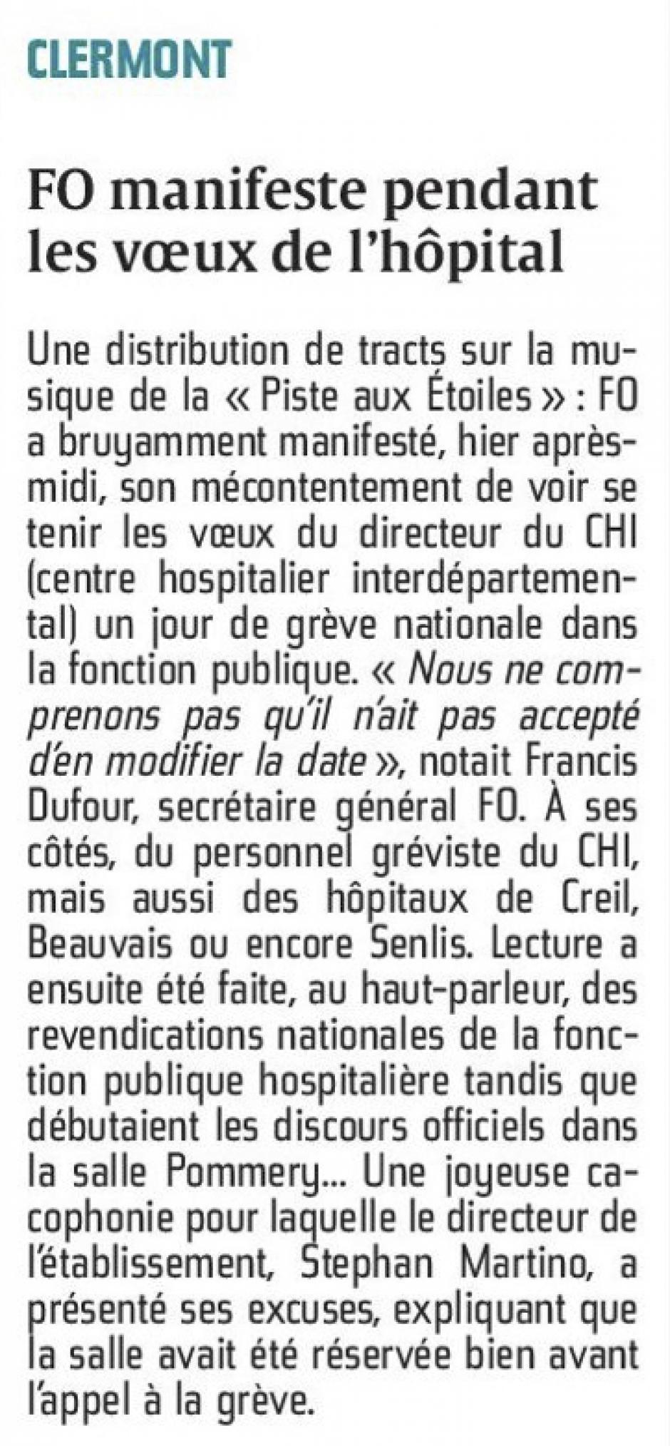 20160127-CP-Clermont-FO manifeste pendant les vœux de l'hôpital