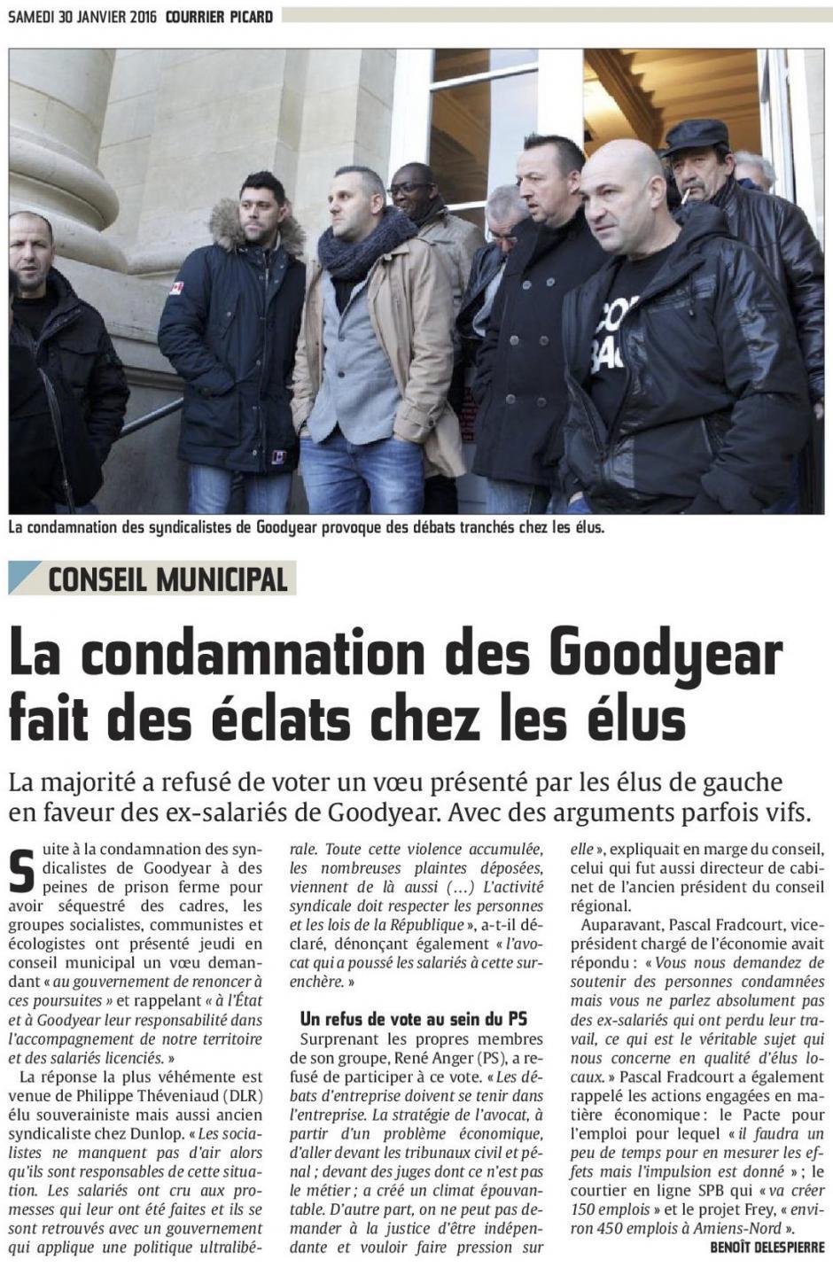 20160130-CP-Amiens-Conseil municipal : la condamnation des Goodyear fait des éclats chez les élus [édition Amiens]