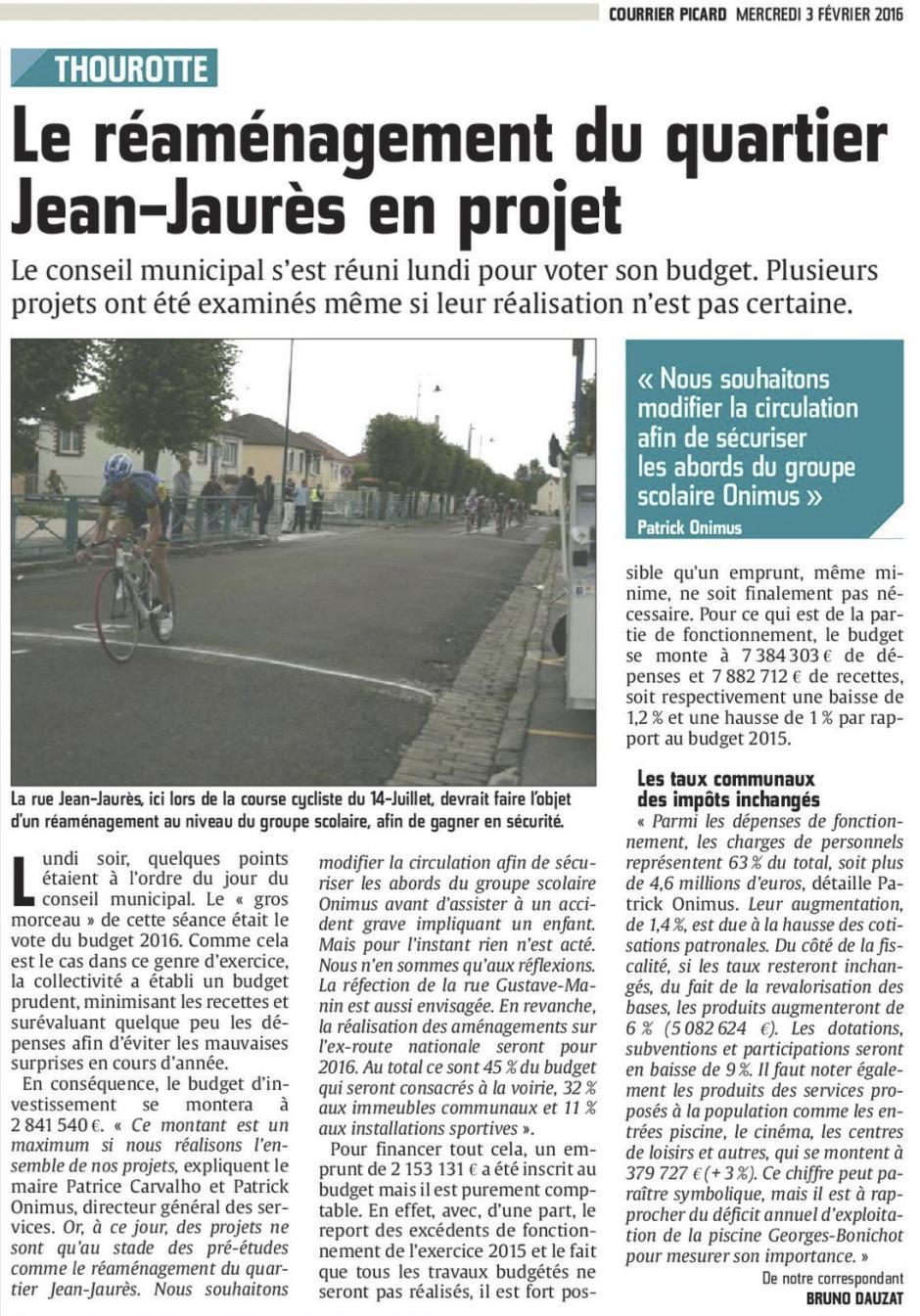 20160203-CP-Thourotte-Le réaménagement du quartier Jean-Jaurès en projet