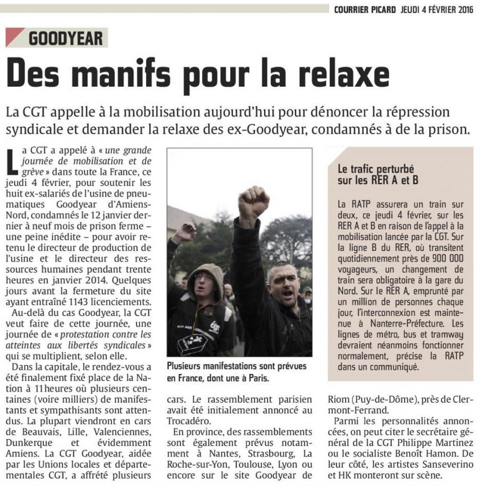 20160204-CP-Picardie-Goodyear : des manifs pour la relaxe