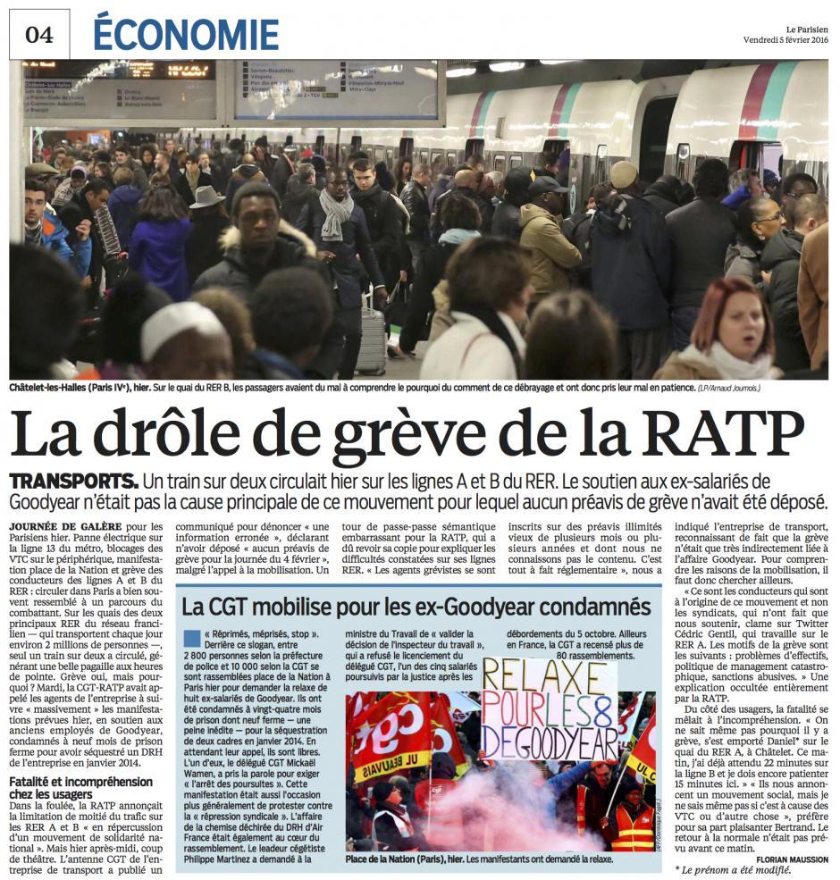 20160205-LeP-Paris-La CGT mobilise pour les ex-Goodyear condamnés [pages nationales]