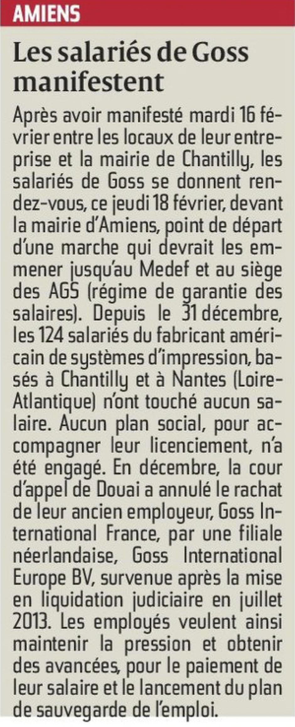 20160218-CP-Amiens-Les salariés de Goss manifestent [pages régionales]