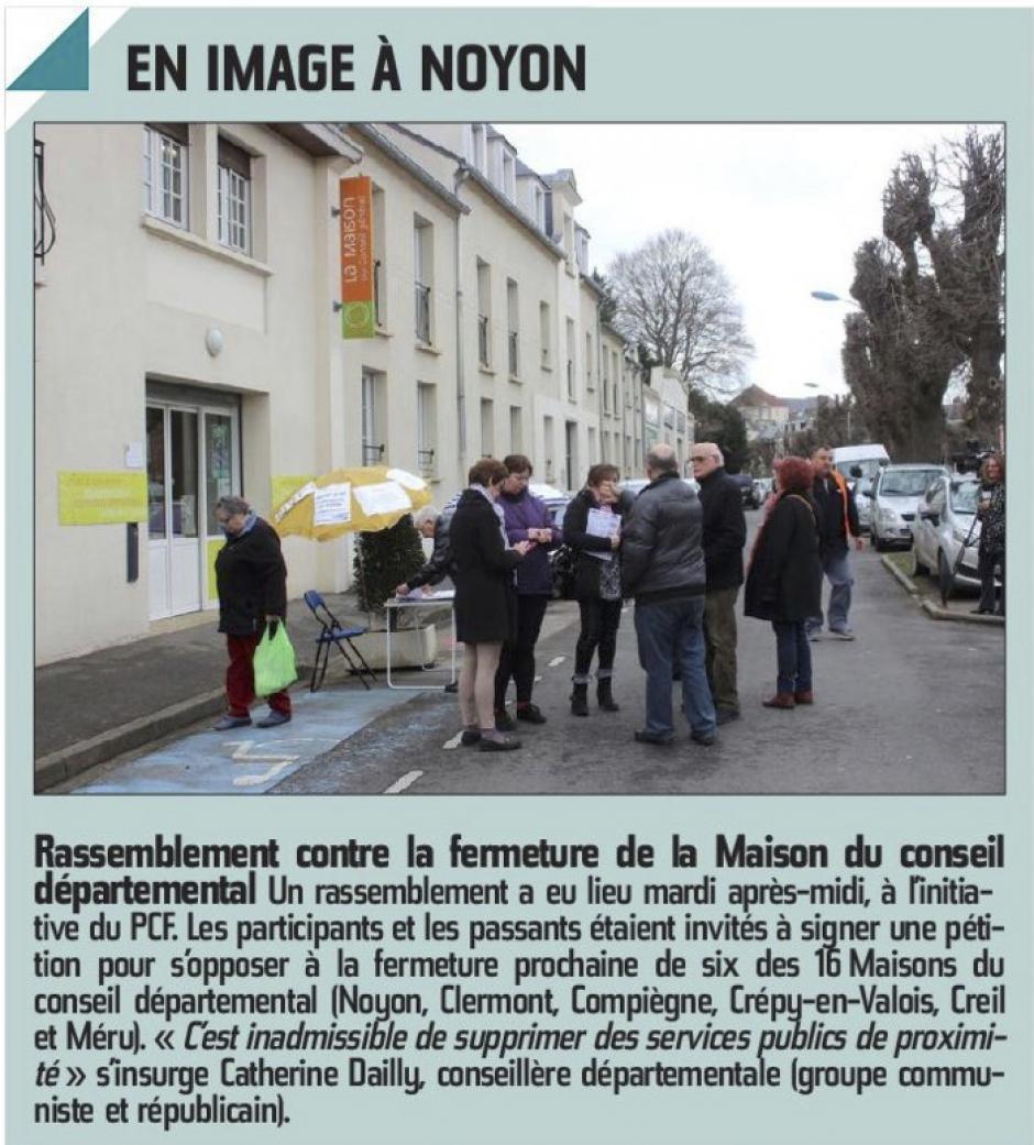 20160224-CP-Noyon-Rassemblement contre la fermeture de la maison du Conseil départemental