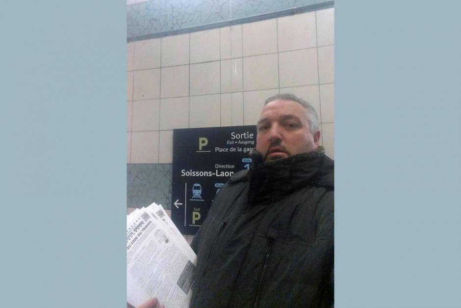 Virés du souterrain de la SNCF par la police ferroviaire ! - Crépy-en-Valois, 3 mars 2016