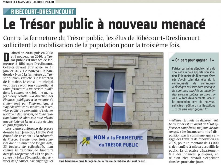 20160304-CP-Ribécourt-Dreslincourt-Le Trésor public à nouveau menacé