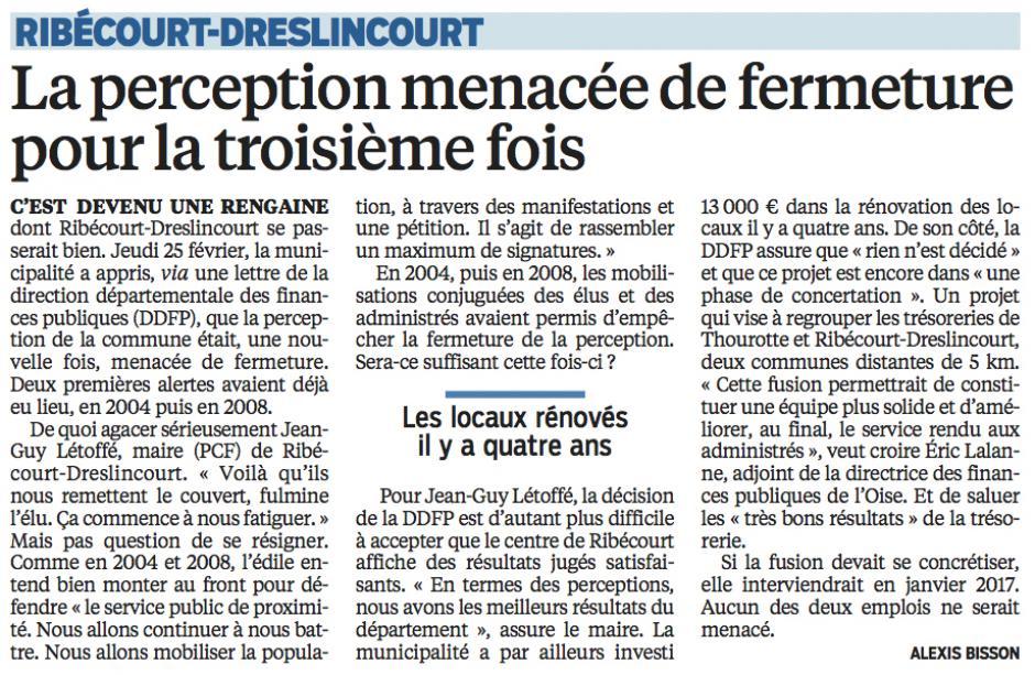 20160304-LeP-Ribécourt-Dreslincourt-La perception menacée de fermeture pour la troisième fois