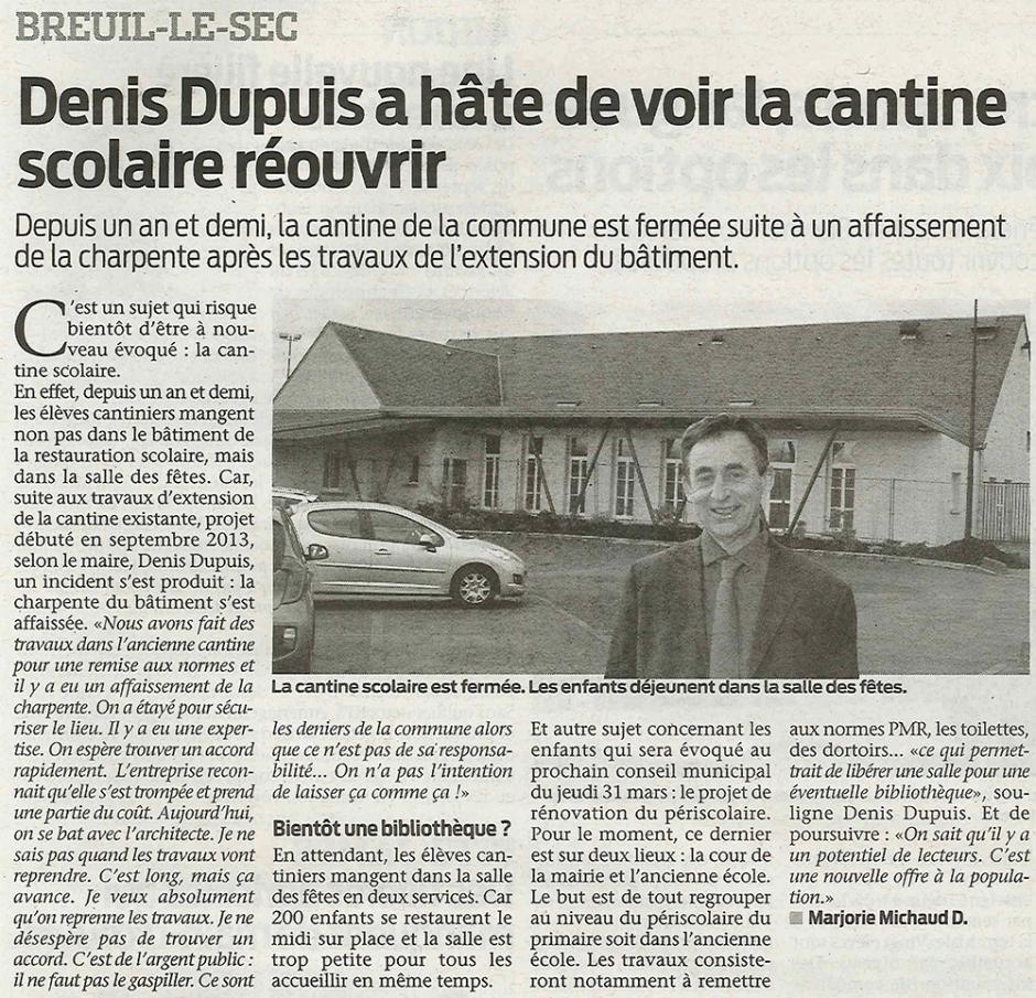 20160323-BonP-Breuil-le-Sec-Denis Dupuis a hâte de voir la cantine scolaire réouvrir