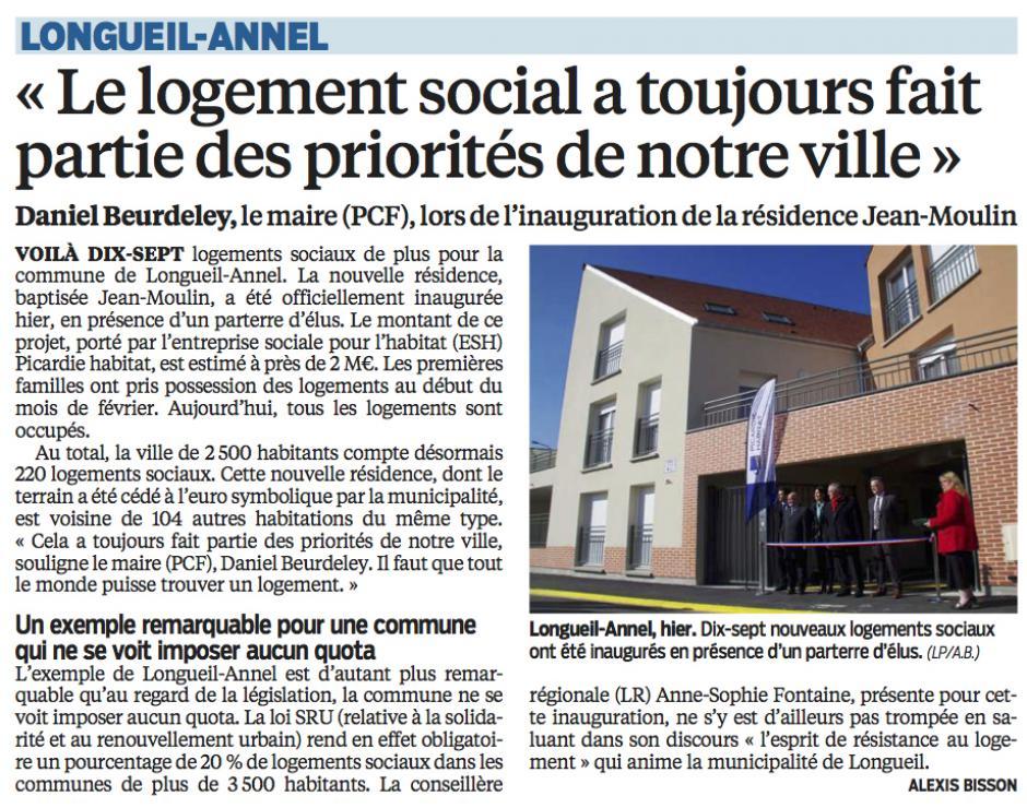 20160323-LeP-Longueil-Annel-Daniel Beurdeley : «Le logement social a toujours fait partie des priorités de notre ville »