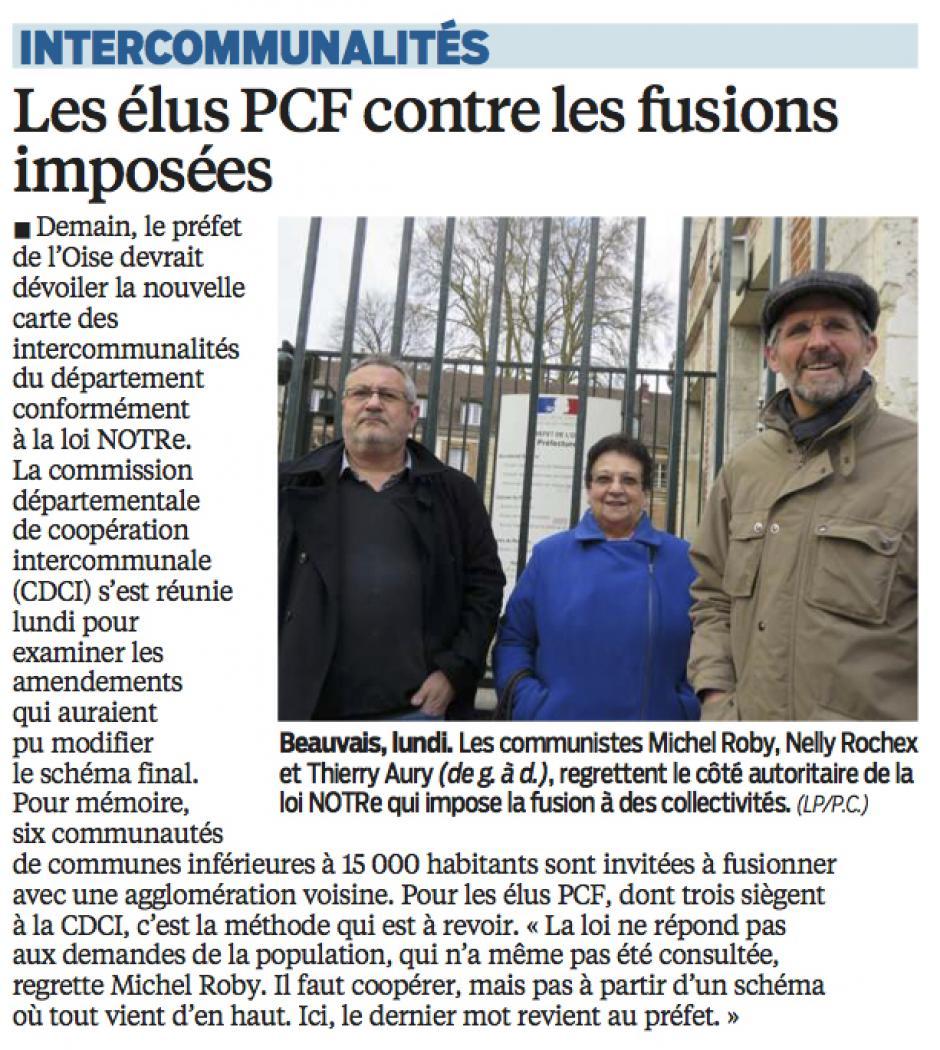 20160323-LeP-Oise-Intercommunalités : les élus PCF contre les fusions imposées
