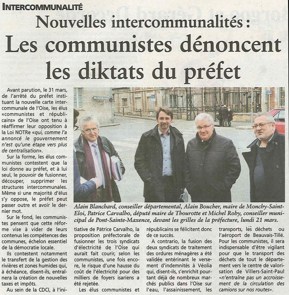20160323-OH-Oise-Nouvelles intercommunalités : les communistes dénoncent les diktats du préfet