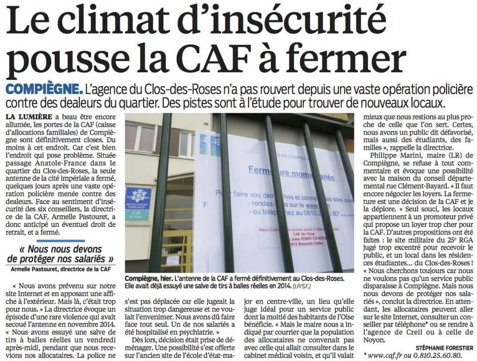 20160324-LeP-Compiègne-Le climat d'insécurité pousse la CAF à fermer