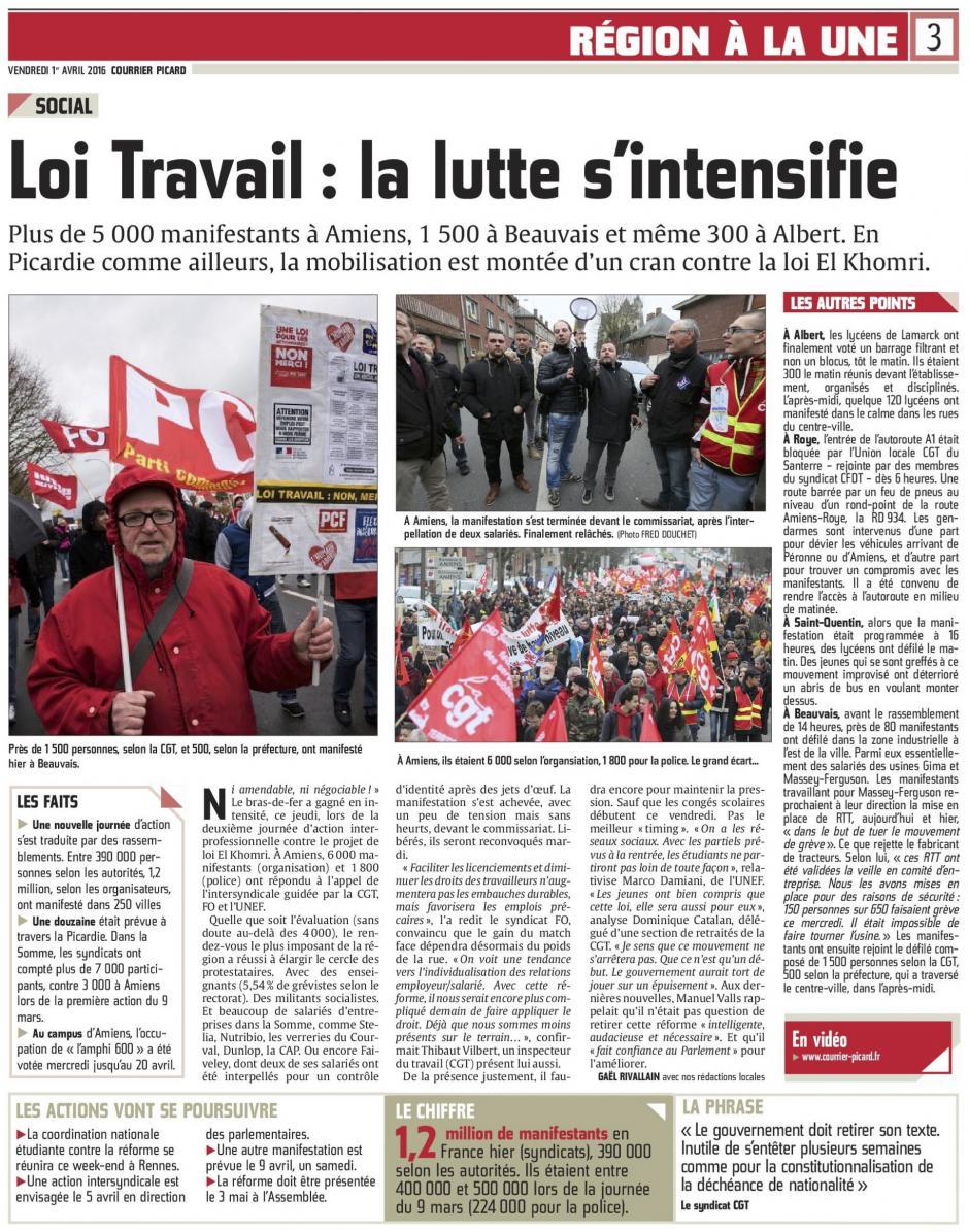 20160401-CP-Picardie-Loi Travail : la lutte s'intensifie