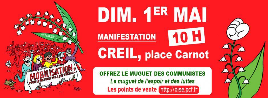 1er mai, Creil - Fête internationale des travailleurs