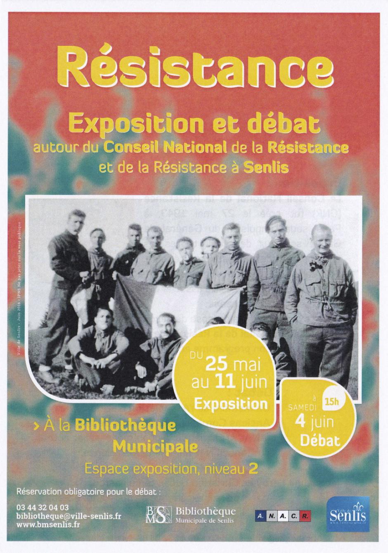 4 juin, Senlis - ANACR-Conférence-débat autour du CNR