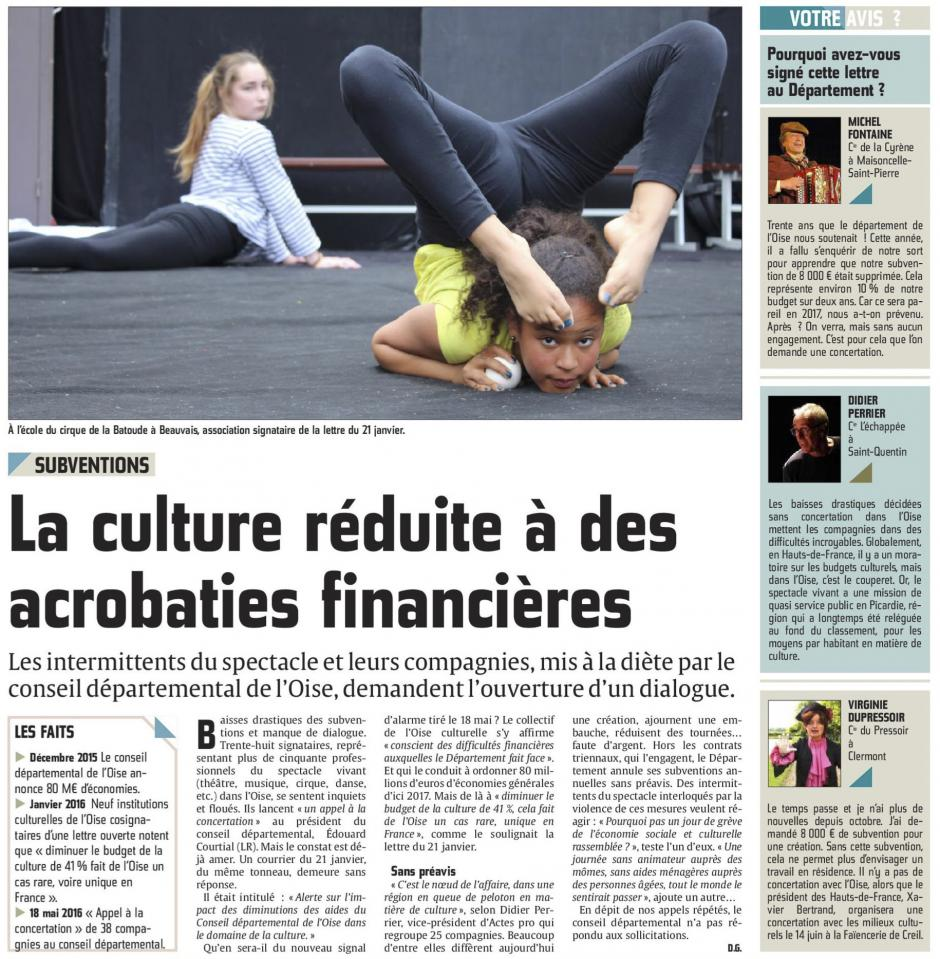 20160526-CP-Oise-Subventions : la culture réduite a des acrobaties financières