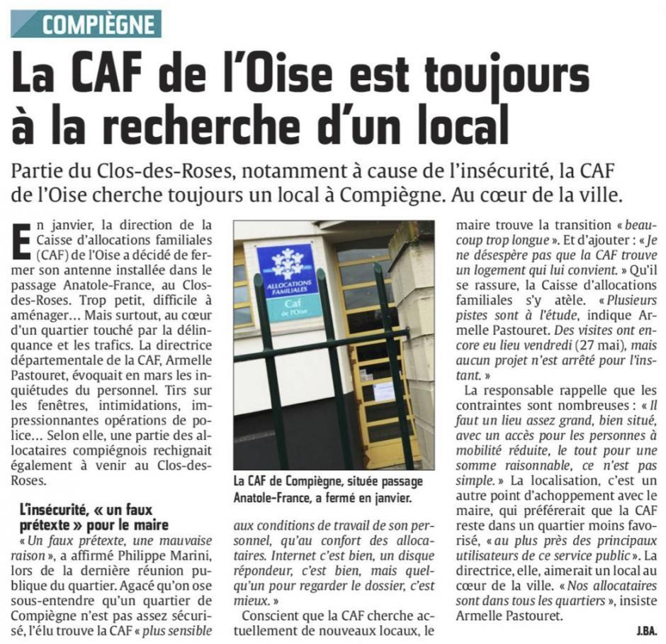 20160531-CP-Compiègne-La CAF de l'Oise est toujours à la recherche d'un local