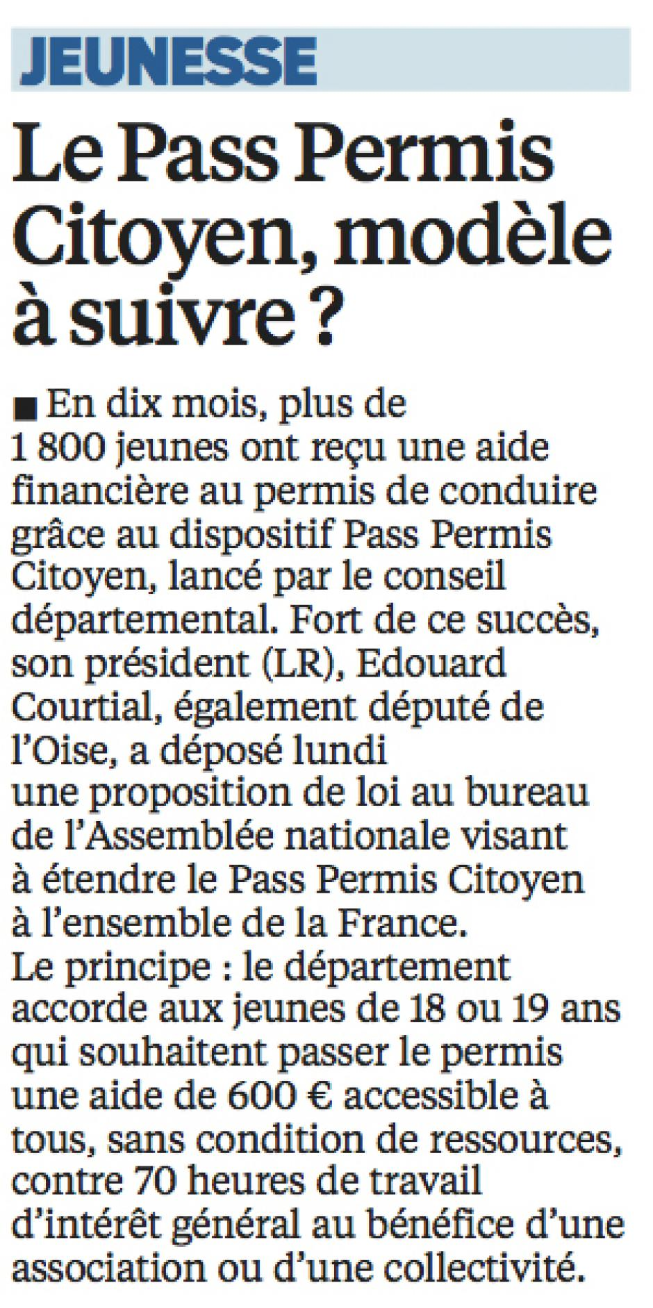 20160601-LeP-Oise-Le Pass Permis Citoyen, modèle à suivre ?