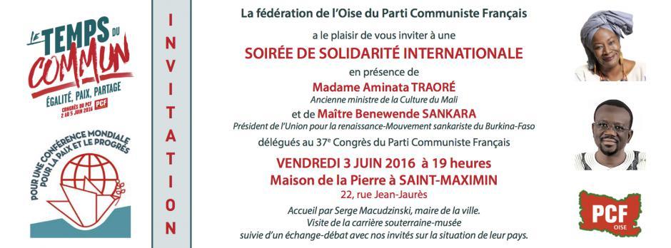 3 juin, Saint-Maximin - Soirée de solidarité internationale avec Aminata Traoré et Benewende Sankara