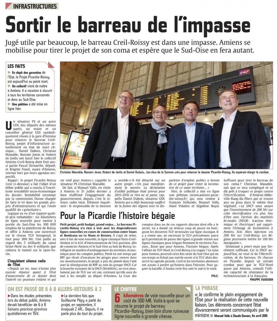 20160611-CP-Picardie-Sortir le barreau Creil-Roissy de l'impasse