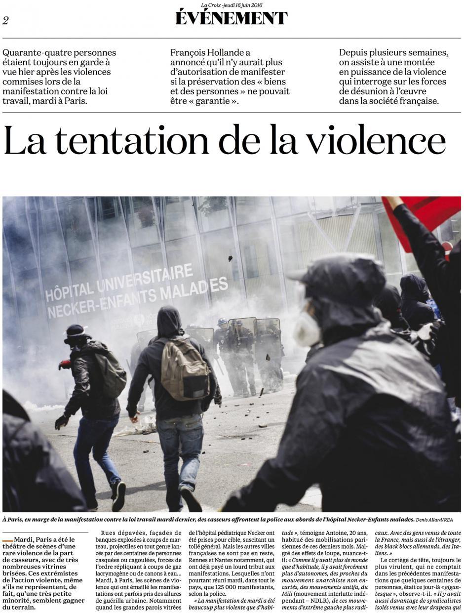 20160616-LaCroix-La tentation de la violence