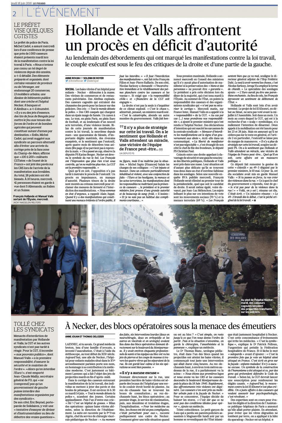 20160616-LeFig-France-À Necker, des blocs opératoires sous la menace des émeutiers