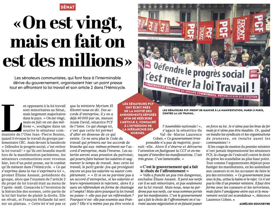 20160616-L'Huma-France-Jean-Pierre Bosino : « On est vingt, mais en fait on est des millions »