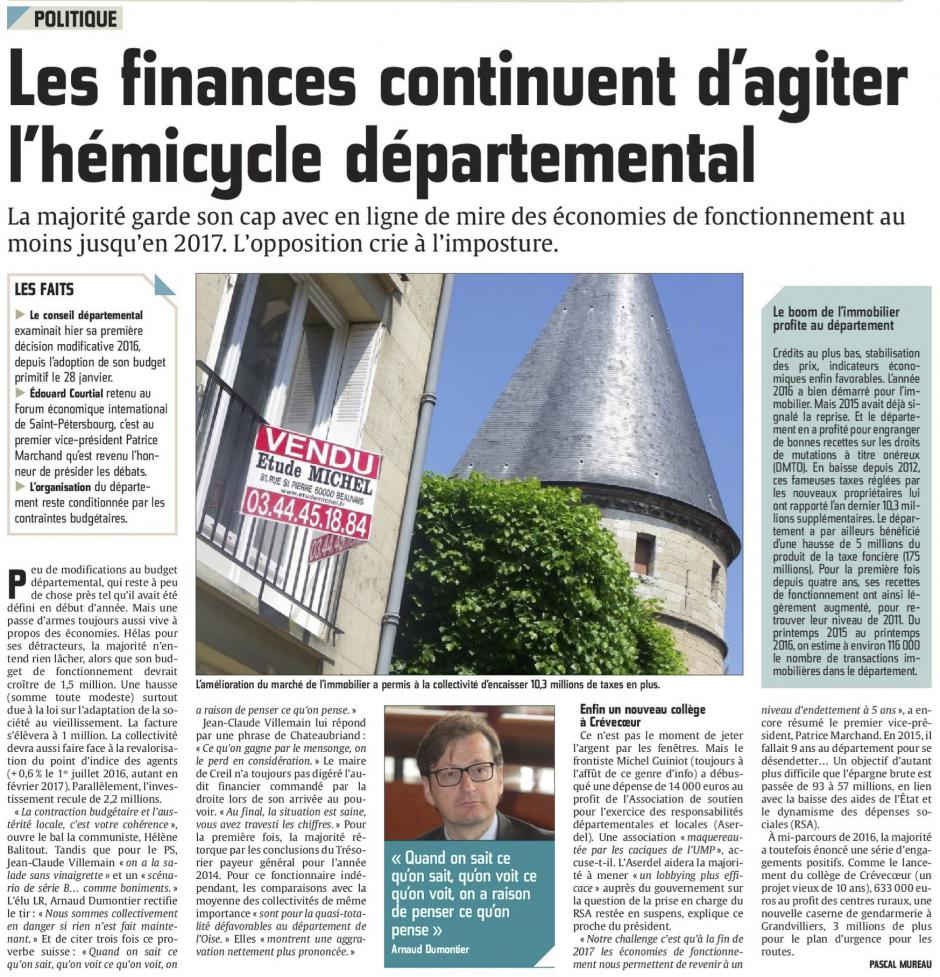20160617-CP-Oise-Les finances continuent d'agiter l'hémicycle départemental