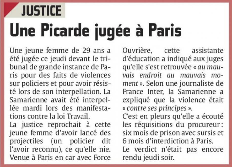 20160617-CP-Paris-Une Picarde jugée