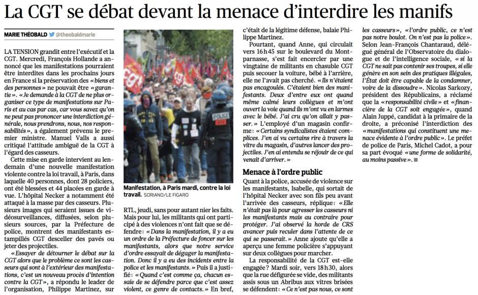 20160617-LeFig-France-La CGT se débat devant la menace d'interdire les manifs