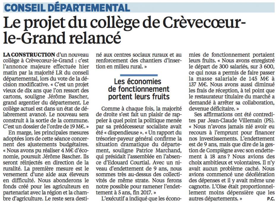 20160617-LeP-Oise-Conseil départemental : le projet du collège de Crèvecœur-le-Grand relancé