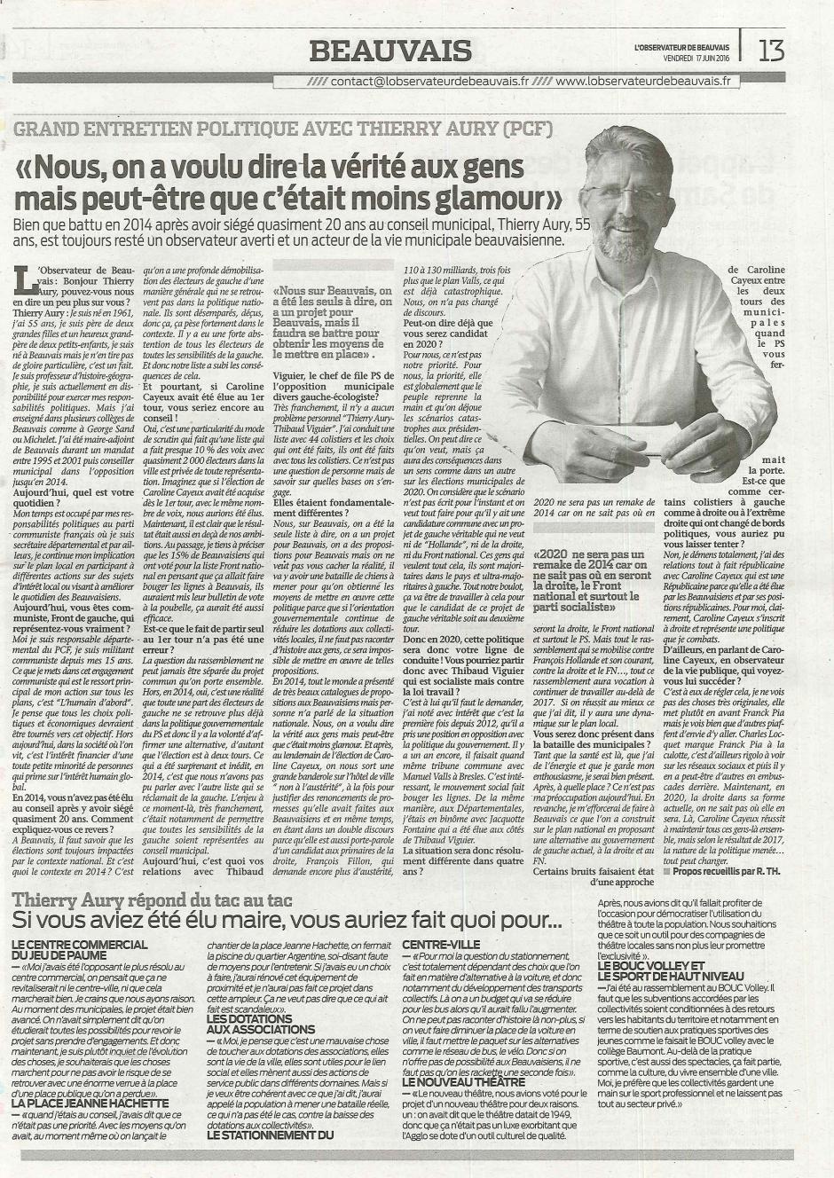 20160617-ObsBv-Beauvais-Grand entretien politique avec Thierry Aury (PCF)