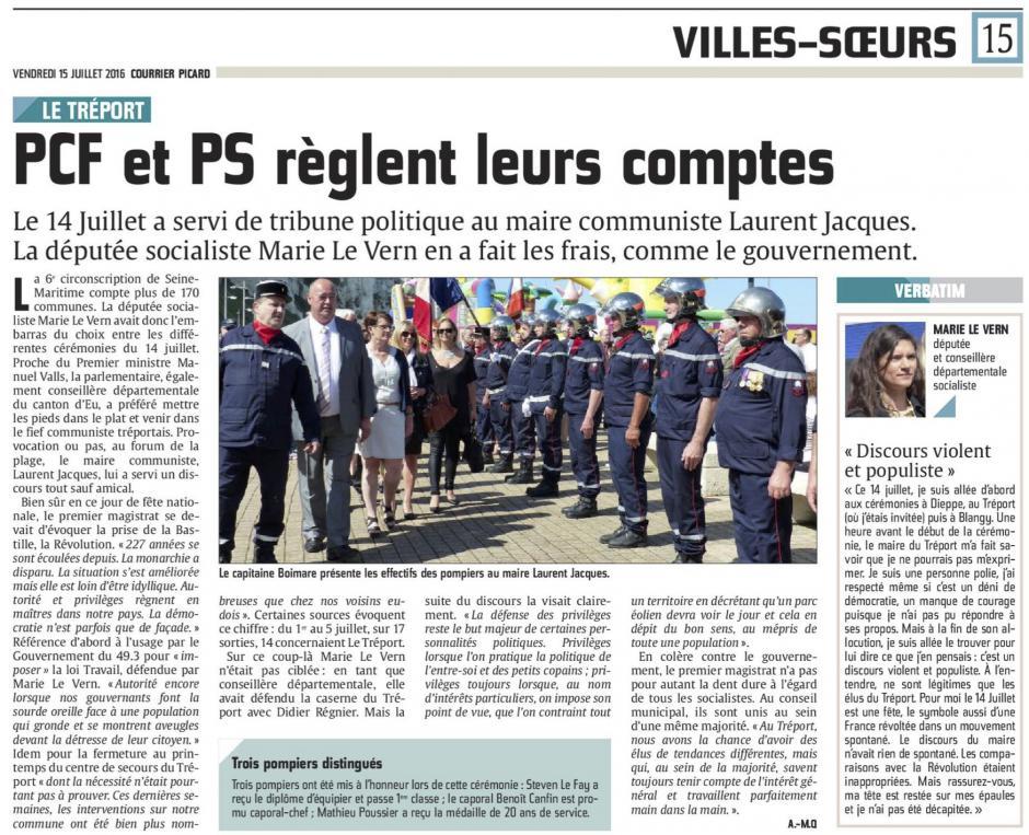 20160715-CP-Le Tréport-PCF et PS règlent leurs comptes [édition Picardie maritime]