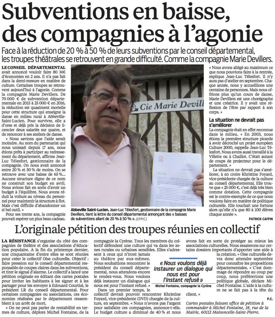 20160805-LeP-Oise-Subventions en baisse, des compagnies à l'agonie