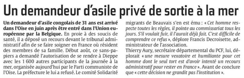 20160820-CP-Beauvais-Un demandeur d'asile privé de sortie à la mer