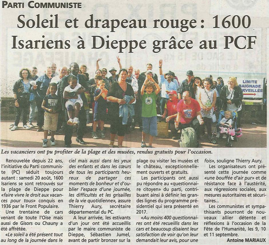 20160824-OH-Oise-Soleil et drapeau rouge : 1 600 Isariens à Dieppe grâce au PCF