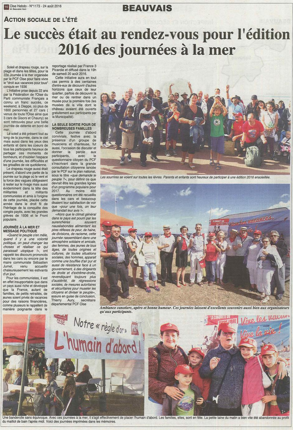 20160824-OH-Beauvais-Le succès était au rendez-vous pour l'édition 2016 des journées à la mer [édition Beauvaisis]
