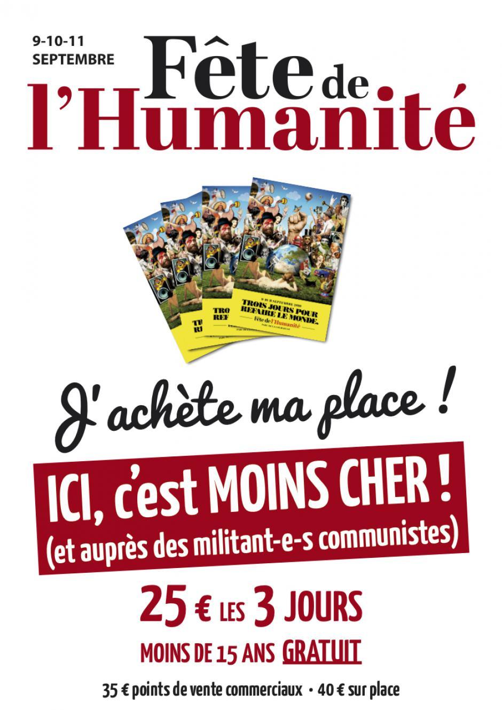 Fête de l'Humanité : j'achète ma vignette pour seulement 25 € et je réserve ma place de bus !