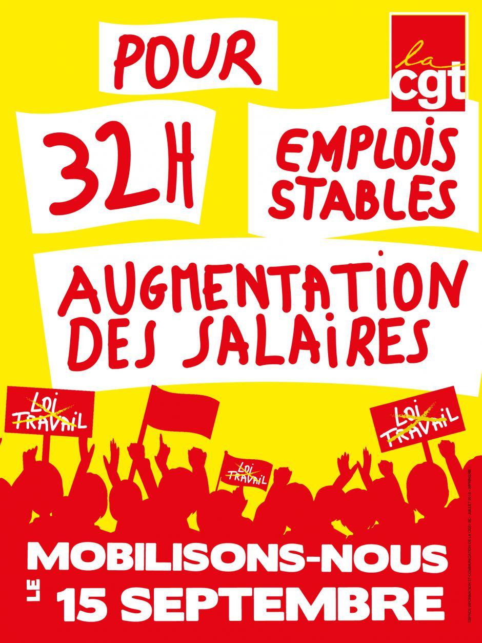 15 septembre, Beauvais & Compiègne - Journée nationale d'action pour l'abrogation de la loi Travail