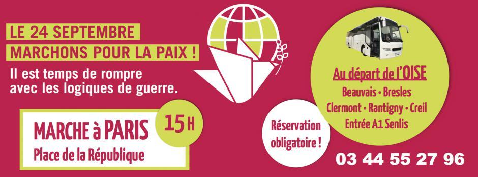 24 septembre, Paris - Marchons ensemble pour la Paix