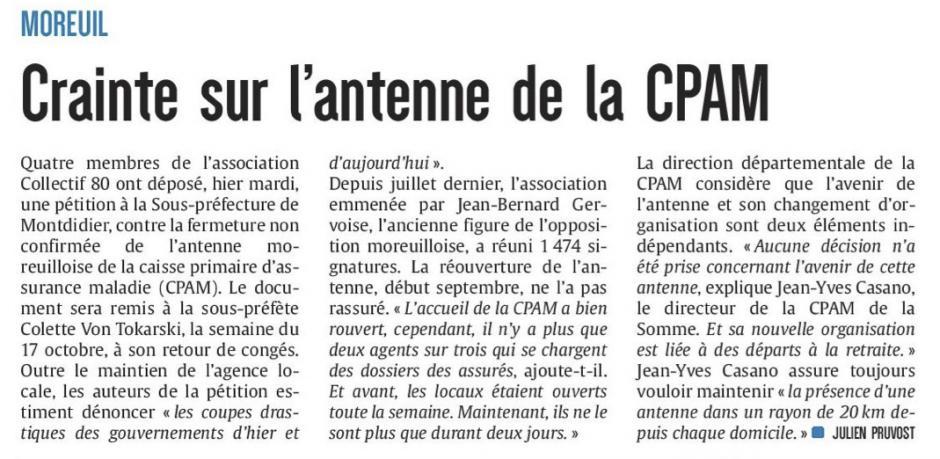 20161012-CP-Moreuil-Crainte sur l'antenne de la CPAM [édition Amiens]