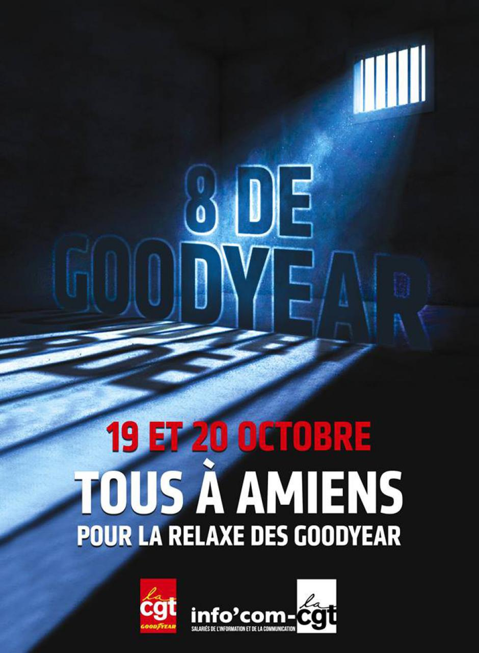 19 & 20 octobre, Amiens - Mobilisation « Relaxe pour les 8 de Goodyear ! »