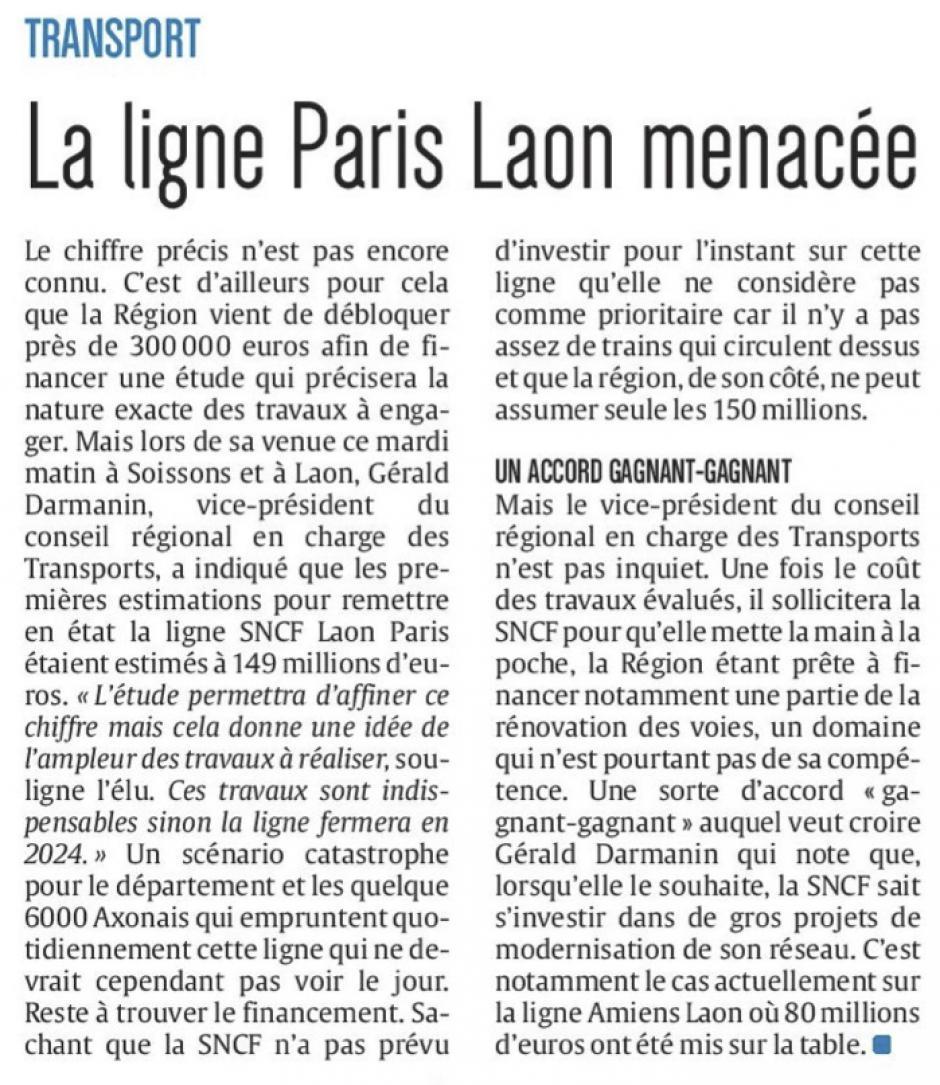 20161019-CP-Aisne-La ligne Paris-Laon menacée [édition Aisne]