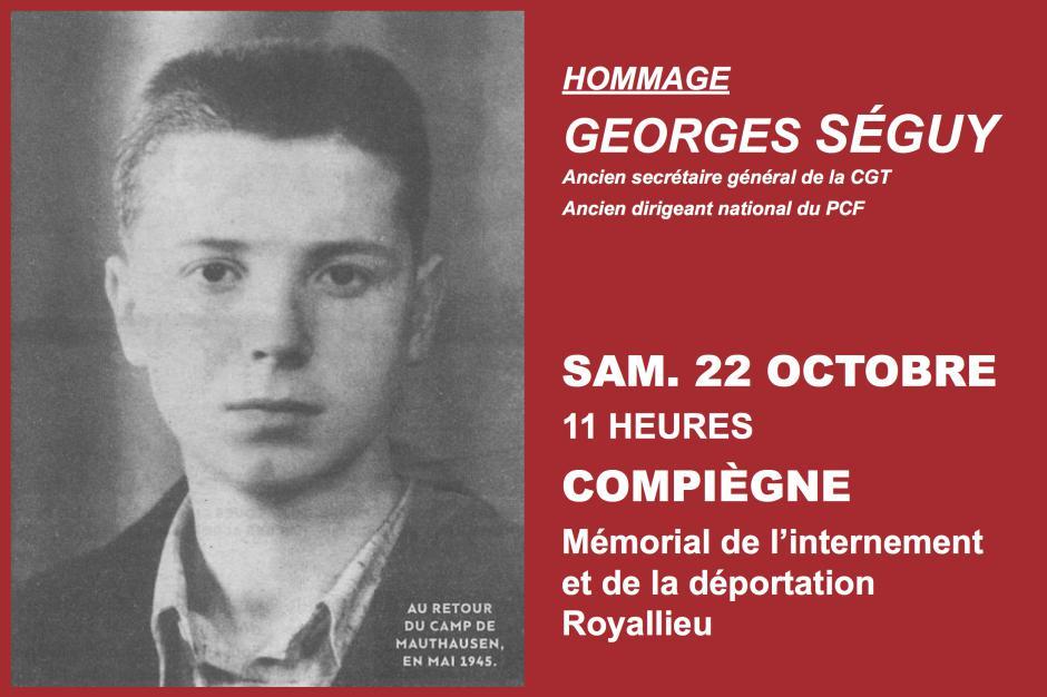 22 octobre, Compiègne - Hommage à Georges Séguy