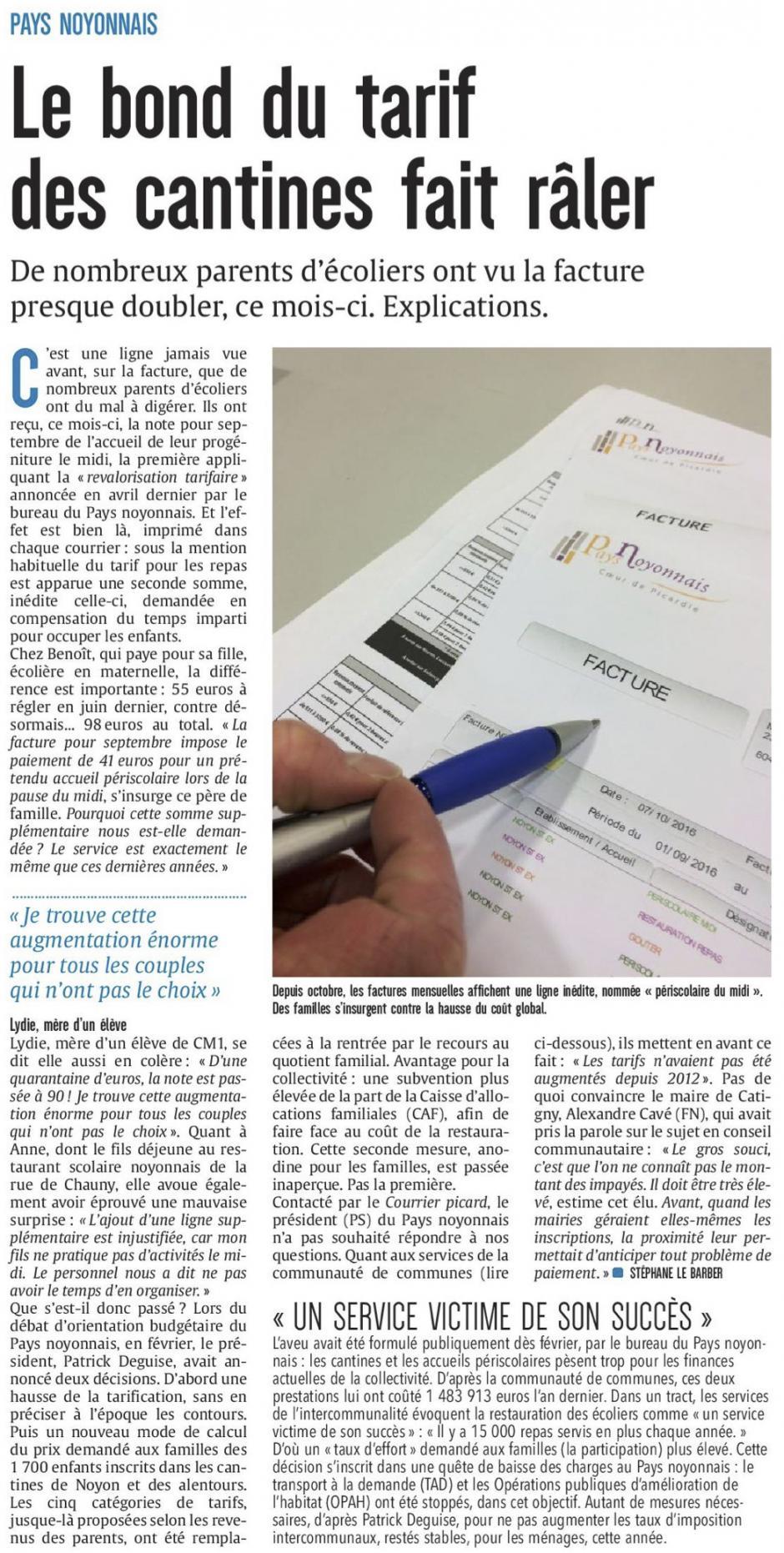 20161026-CP-Noyonnais-Le bond du tarif des cantines fait râler