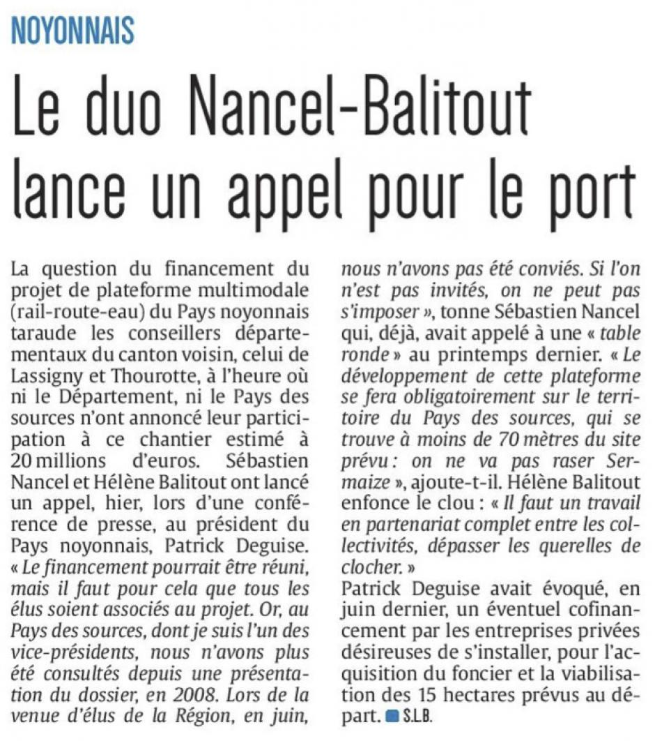 20161026-CP-Noyonnais-Le duo Nancel-Balitout lance un appel pour le port