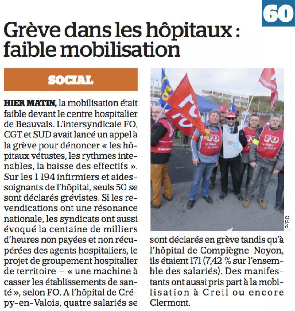 20161109-LeP-Oise-Grève dans les hôpitaux : faible mobilisation