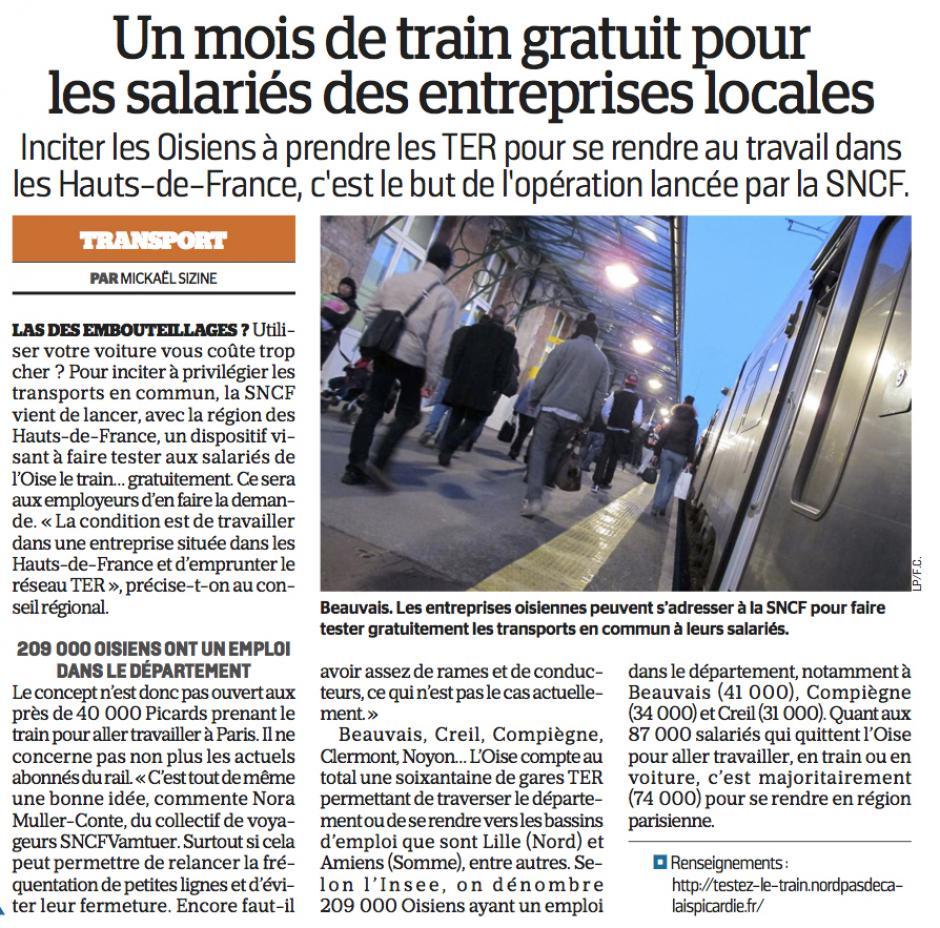 20161110-LeP-Oise-Un mois de train gratuit pour les salariés des entreprises locales